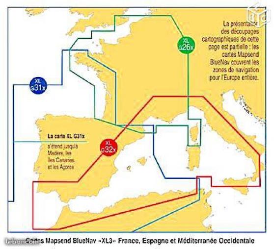 Annonce occasion, vente ou achat 'Mapsend bluenav xlg32x méditerranée west'