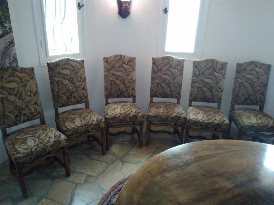 6 chaises os mouton noyé