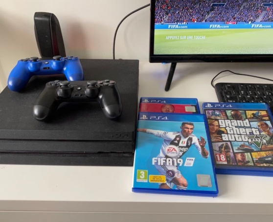 ORIGINAL SONY PS4 Pro 1 To + 3 Jeux + 2