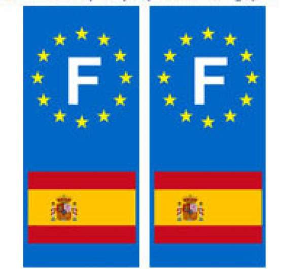 Autocollant Espagne plaque auto