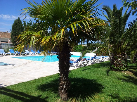 pavillon avec piscine chauffée