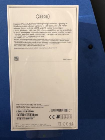 Apple iPhone X 256 Go debloquer neuf