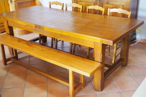 table campagnard chêne massif - Annonce gratuite marche.fr