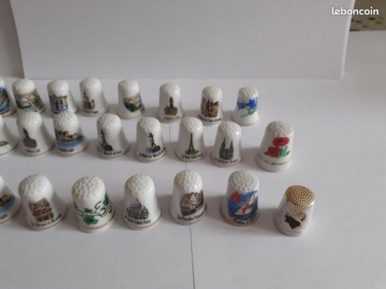 33 dés a coudre en porcelaine - Photo 2