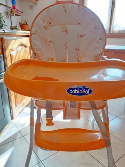 chaise haute Babidéal+matelas