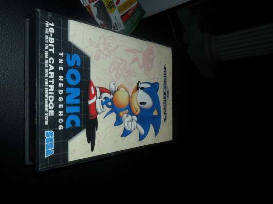 jeux video sonic 1 pour sega megadrive