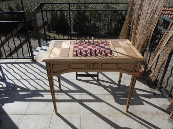 Table à jeu Louis XVI