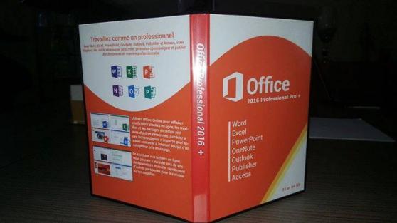 Petite Annonce : Office 2016 pro + 32/64 bit + licence - Licence Office 2016 pro + 32 et 64 bit.   vendue avec dvd