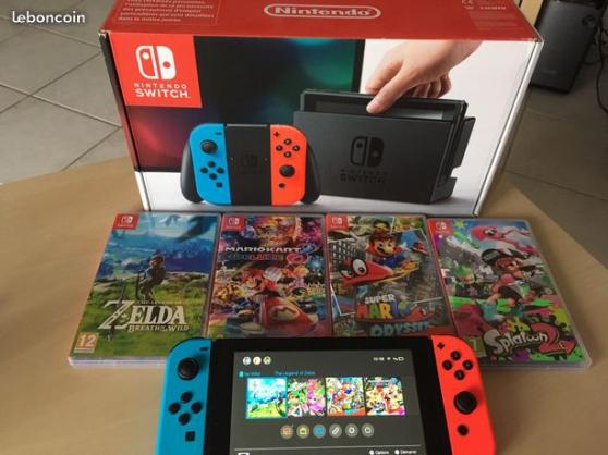 Annonce occasion, vente ou achat 'Nintendo Switch avec 4 jeux envoi possib'