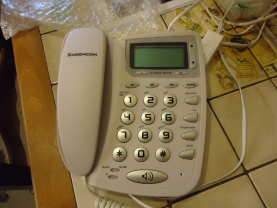 Petite Annonce : Telephone filaire neuf grosses touches s - TELEPHONE FILAIRE NEUF A GROSSES TOUCHES MARQUE SAGEM ACHETER CHEZ