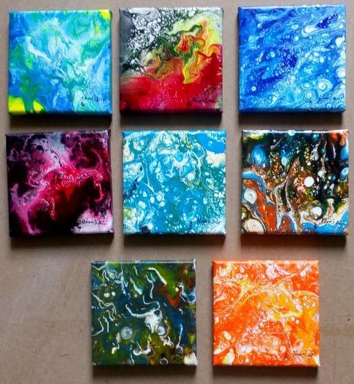 Peinture acrylique sur toile 12*12
