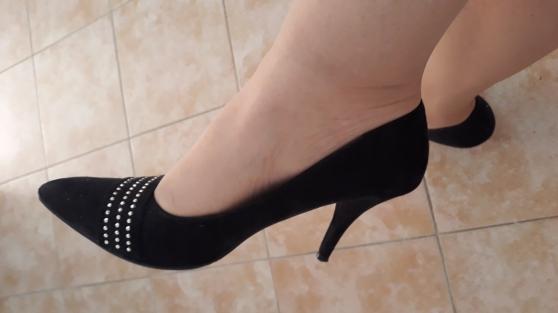 chaussure escarpins sexy noir