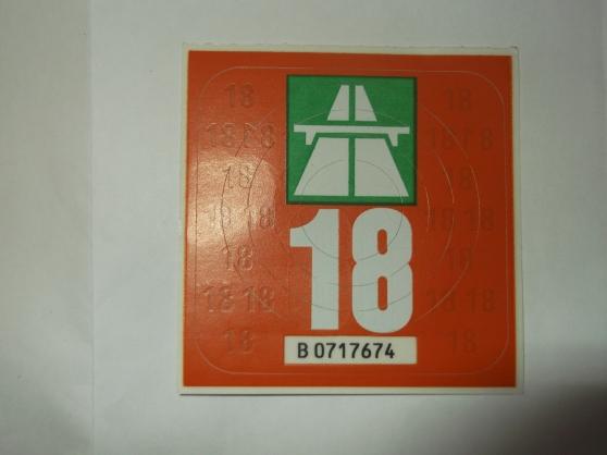 vignette autoroute 2018