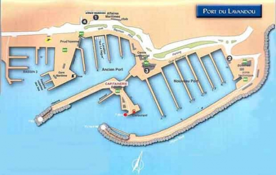 Place de port Lavandou 7.00m par 2.60m