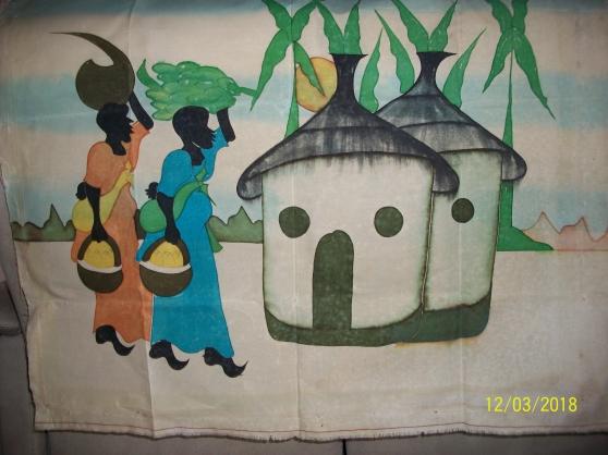 toile village africain