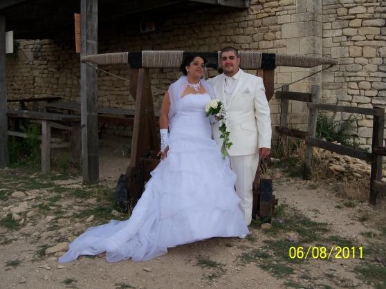 robe de mariée blanche T44
