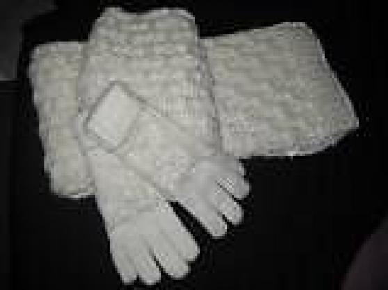écharpe+gants femme