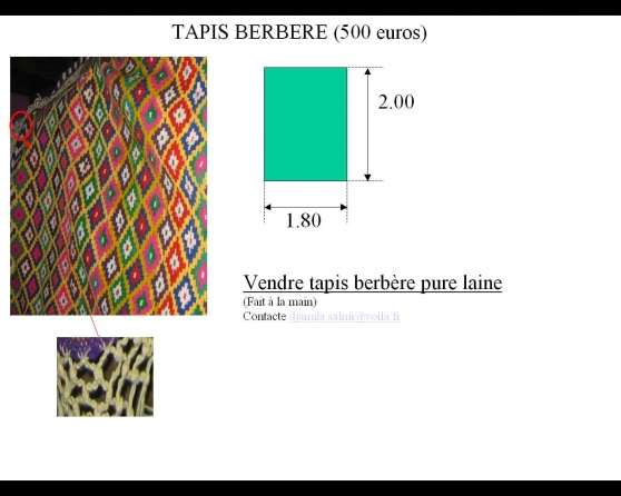 tapis berbere pure laine fait main