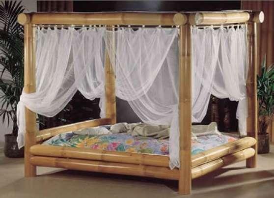lit baldaquin en bambou paris meubles d coration chambres coucher paris reference meu. Black Bedroom Furniture Sets. Home Design Ideas
