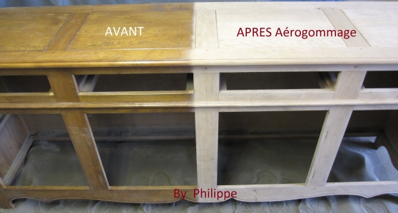 D capage de buffet enfilade bolbec meubles for Decapage de meuble
