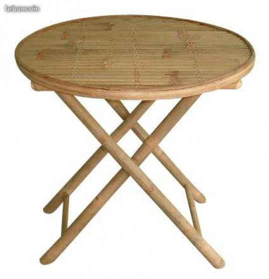 Annonce occasion, vente ou achat 'Table ronde et chaise en bambou promo'