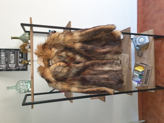 manteau de fourrure en renard vintage
