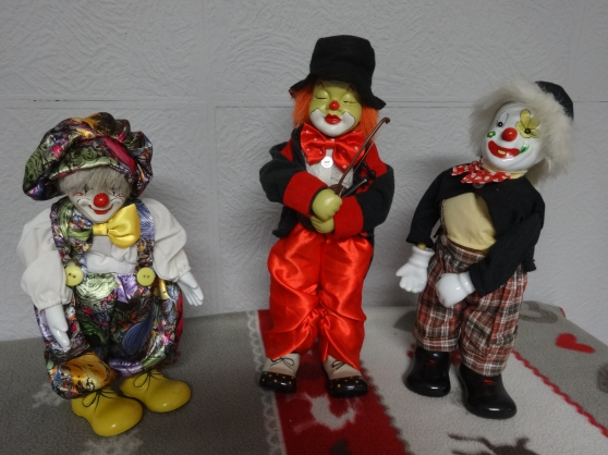 LOT DE 3 CLOWNS AUTOMATE DE COLLECTION
