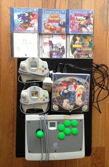 Console Dreamcast rare+accessoires+jeux