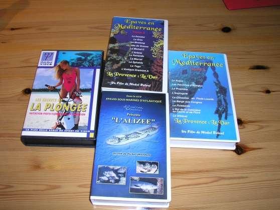 4 vhs plongée &épaves cotes de FRANCE