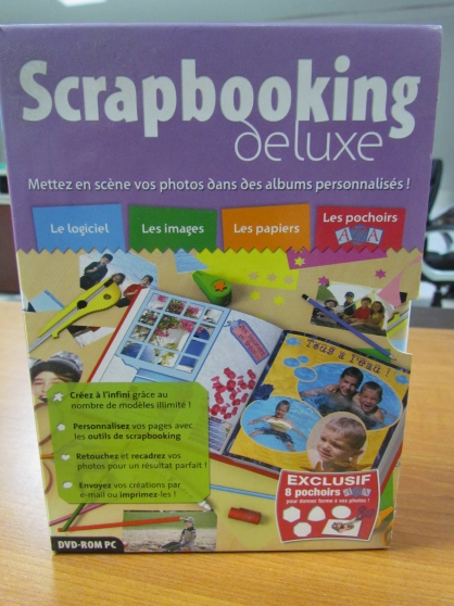 Annonce occasion, vente ou achat 'DVD-rom SCRAPBOOKING Deluxe'