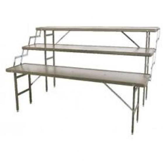 Location tables escallier 3 niveaux