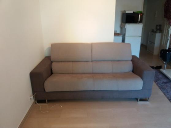 Canap lit gris convertible meubles d coration canap for Decoration canape gris
