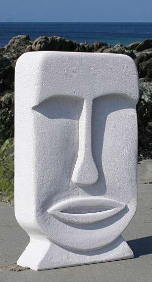 Sculpture/beton cellulaire-Mona-/ 54cm