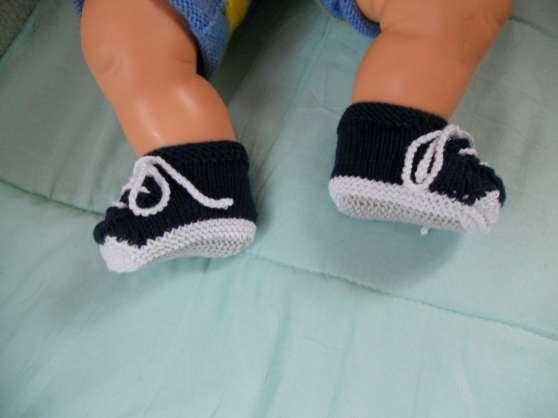 chaussons bébé fait main coton idéal été - Annonce gratuite marche.fr