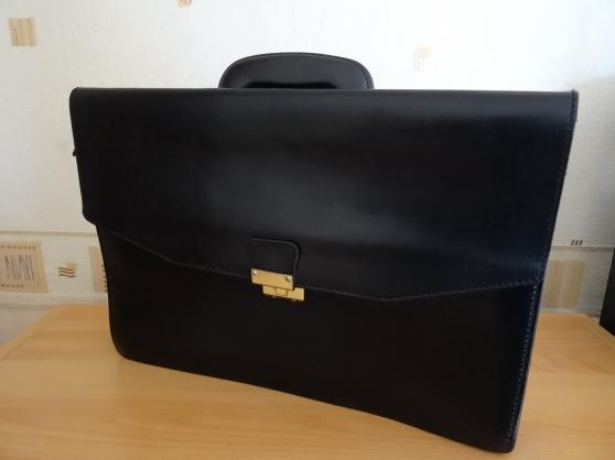 Porte document Original en cuir noir jam