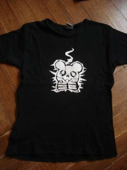 Tee shirt noir hamster