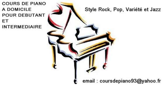 Cours de piano à domicile à Aulnay sous