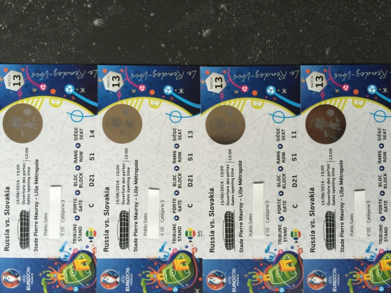 Annonce occasion, vente ou achat 'UEFA 2016 - Russie / Slovaquie'