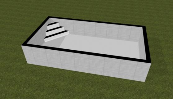 Kit piscine enterrée 8 x 4 x 1.5 + esc