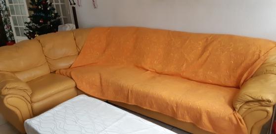 Canapé en cuir 285 cm x 190 cm x 85 cm
