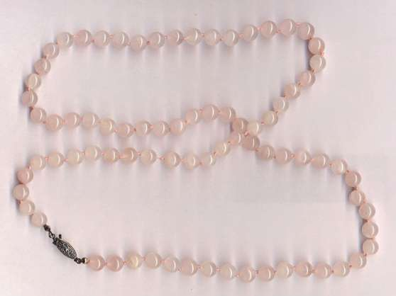 Collier de quartz rose