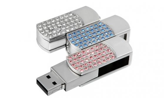 Clés USB 16 Go ornées de cristaux