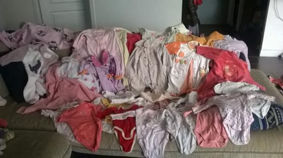 Lot vêtements fille de 3 mois à 18 mois