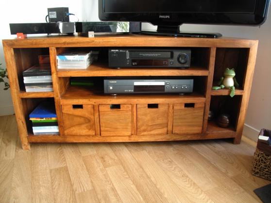 meuble Tv d'angle en bois