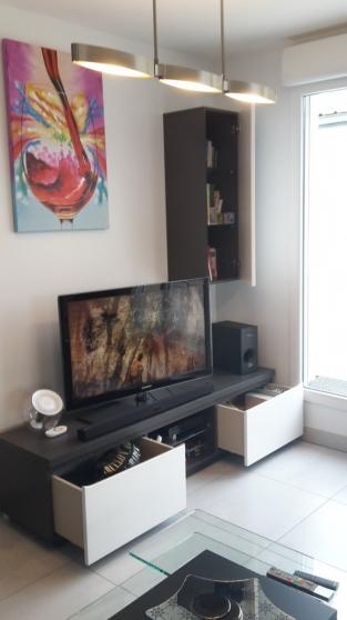 MEUBLE TV - 2 TIROIRS - 1 NICHE