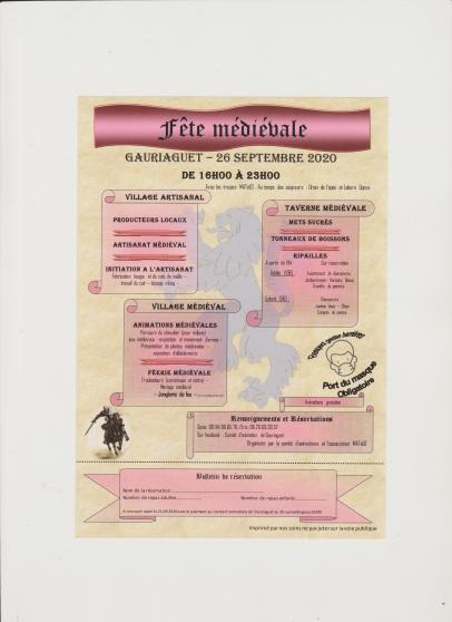 Annonce occasion, vente ou achat 'Fête Médiéval'