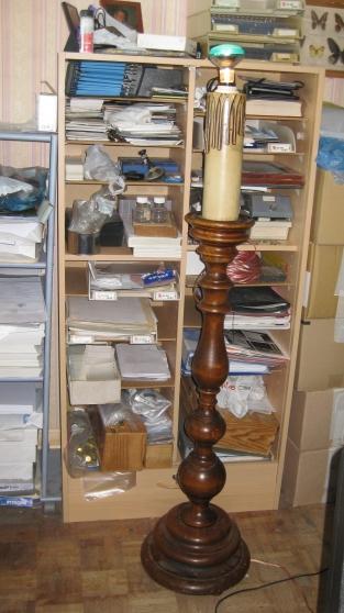 lampadaire rustique