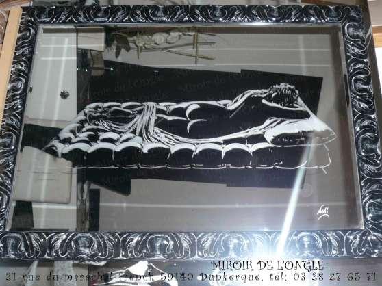 Annonce occasion, vente ou achat 'Gravure portrait... sur verre et miroir'