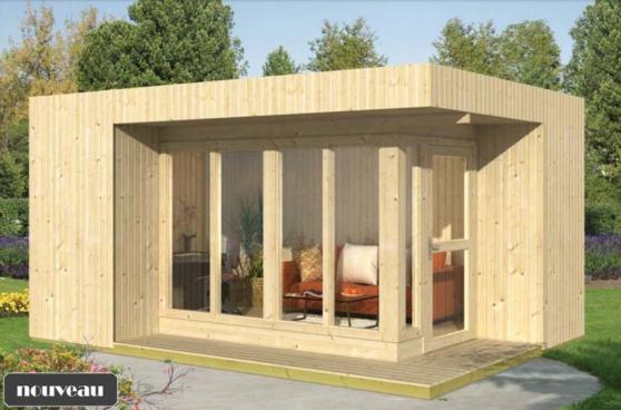 abri chalet de jardin en bois 16m2 - Annonce gratuite marche.fr