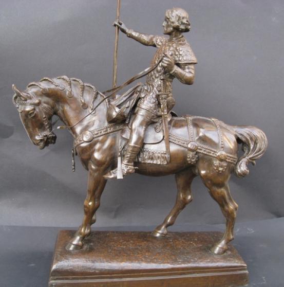 Sculpture ancienne.Godefroid de Bouillon